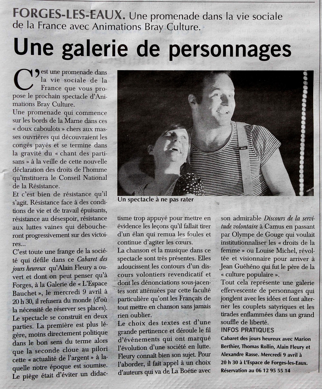 Article de presse CJH